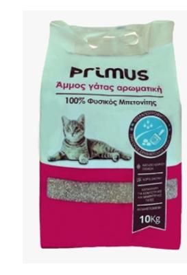 3502120790a3 Αμμος Γάτας PRIMUS αρωματική 10kg